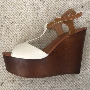 Bamboo white wedges